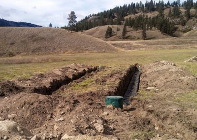A gravity distribution drainfield in rural Spokane County.