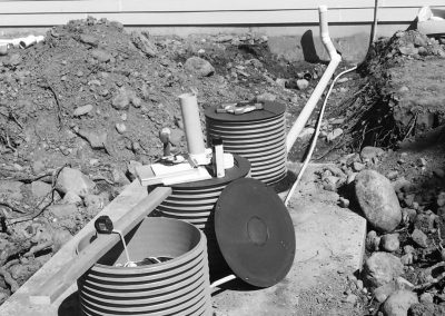 Example of a pressure distribution septic system.