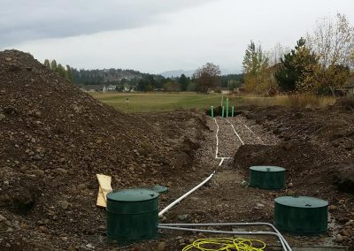 Example of an enhanced treatment septic system.